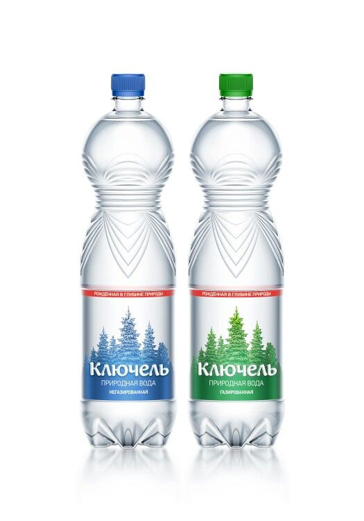 Kluchel natural spring water. Bottled water #packaging #design #bottle #water Ключель