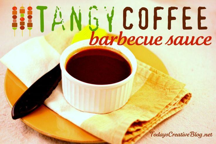 Tangy coffee BBQ sauce. http://todayscreativeblog.net