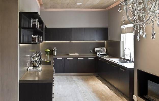 dise o de cocinas negras cocinas negras pinterest On cocinas integrales negras