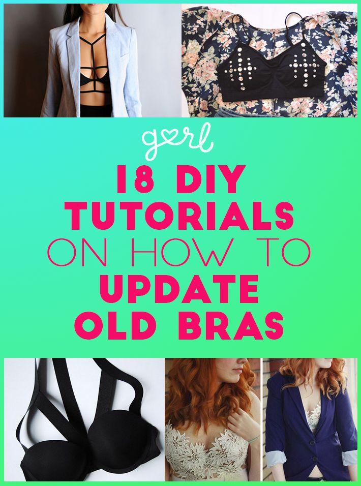 18 DIY Tutorials On How To Update Old Bras