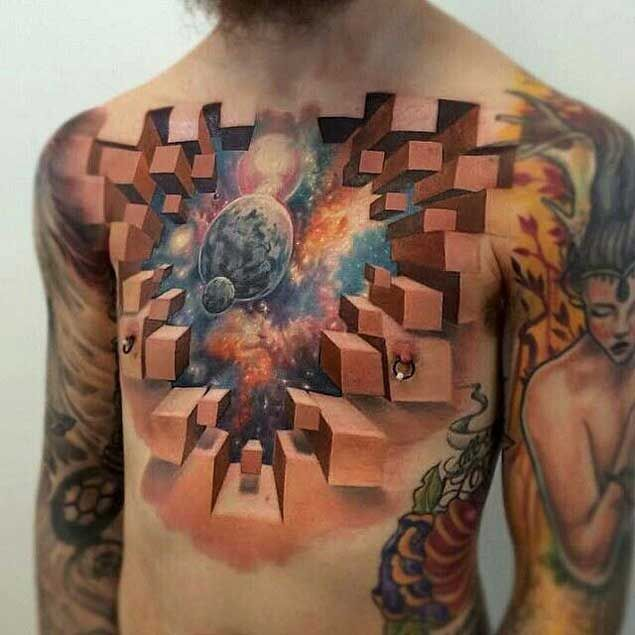 50 Earth Shattering Space Tattoos That Are Literally Out Of This World