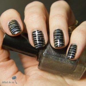 ongles zébrés - zebra nails