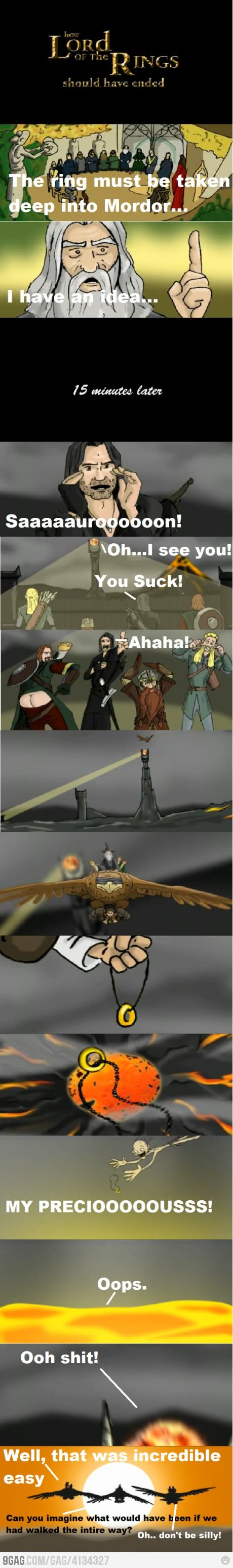 How Lord of The Rings Should Have Ended. Best Hishe :D
