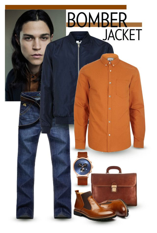 """""""Bomber Jacket - Men's Fashion"""" by giovanina-001 ❤ liked on Polyvore featuring Maxwell Scott Bags, Topman, River Island, men's fashion and menswear"""