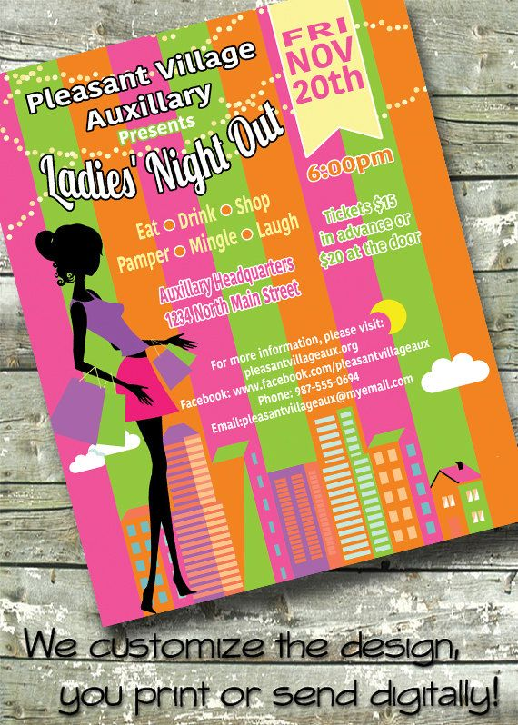 221 best invitationspostersflyers images on pinterest flyers ladies night out networking meet greet 5x7 invite 85x11 flyer m4hsunfo