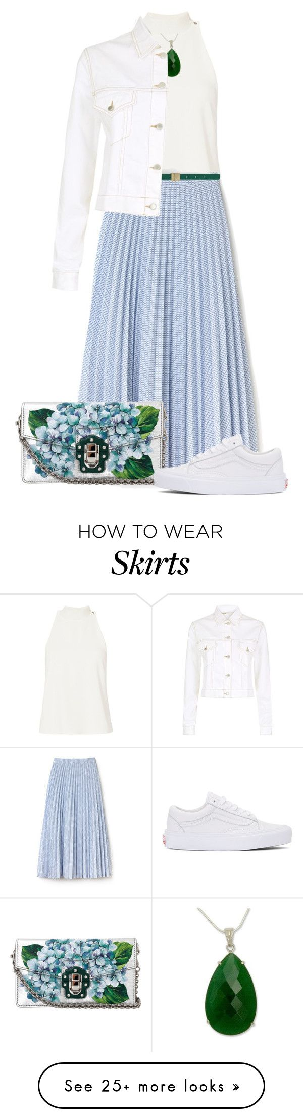 """Untitled #1978"" by ebramos on Polyvore featuring A.L.C., Lacoste, Dolce&Gabbana, NOVICA, Maje and Vans"