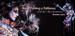 Curso de Body Painting con Julio Quijano, un día a la semana, en Stick Art Studio, Escuela de Maquillaje Artístico en Barcelona. ¡Iniciamos en enero! Maquillaje realizado por nuestro maestro Julio Quijano