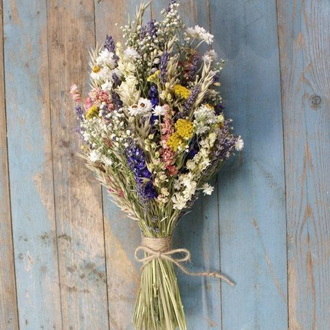 Festival Meadow Dried Flower Bouquet by EnglishFlowerFarmer