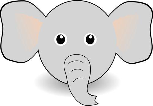 Vectorillustratie van grappige olifant hoofd