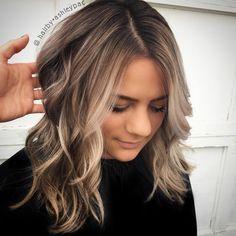 """638 Likes, 16 Comments - ✁H A I R A R T I S T ✁ (@hairby.ashleypac) on Instagram: """"Obsessed. blonde balayage lob!! #hairbyashleypac…"""""""
