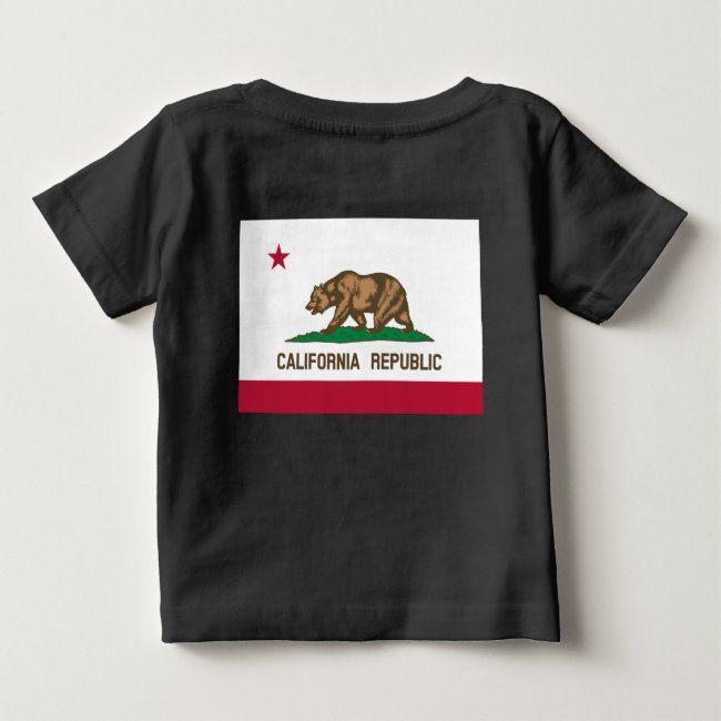 California Republic Us State Bear Flag Baby T Shirt Zazzle Com In 2020 California Republic U S States California