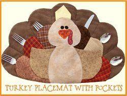 Turkey Tom Pocket Placemat | FaveQuilts.com