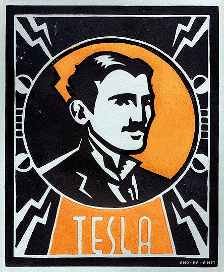 Nikola Tesla Stencil By Gyerase On Deviantart: 39 Curated Science Based Art Ideas By Elifaen