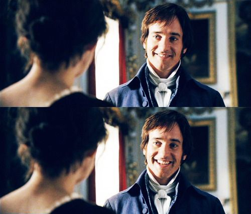What I love about this part of the movie is how comfortable Darcy has become with Elizabeth. He isn't the same man he was before she came into his life and this shows not only how much he loves her, but how much of an impact she's had on his character.