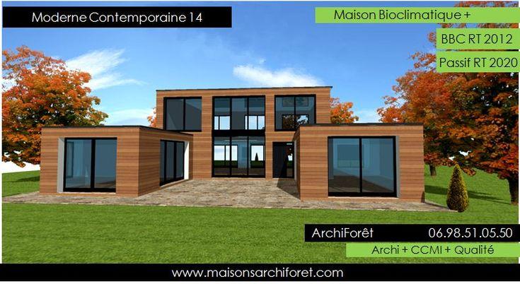 Maison toit plat et toiture terrasse bac acier ou siplast for Architecte maison ossature bois