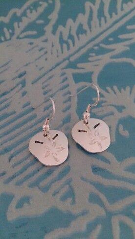 Pansy Shell Sterling Silver Handmade Earrings