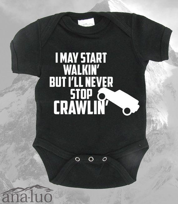 Check out this item in my Etsy shop https://www.etsy.com/listing/239714556/jeep-wrangler-crawler-onesie
