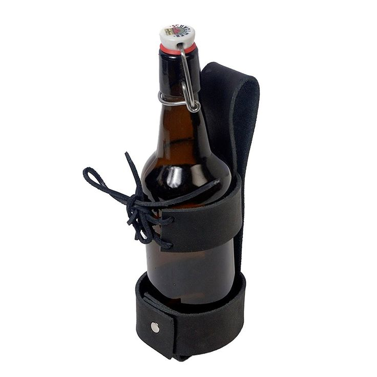 Amazon.com: Deluxe Leather Cup Can Water Bottle Drink Holder 48-201252 (Black): Clothing