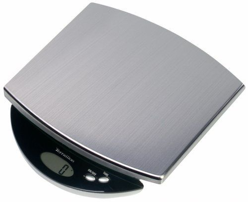 Terraillon Inox 6.6-Pound Digital Kitchen Scale, Stainless Steel by Terraillon. $44.91. Capacity:  6.6 pound. Tare function. Long-life lithium battery  included. Measures in ounces and pounds. LCD 42 x 17 mm. The Inox 6.6-Pound electronic kitchen scale has a stainless steel platform that is sleek, hygenic and easy to clean. Measure directly on the platform or use the tare feature with a bowl.. Save 10% Off!