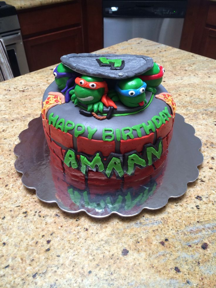 Ninja Turtles Cake Party Themes Ideas Cakes More Pinterest