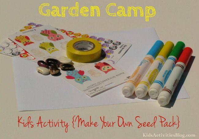 Kid's Garden Camp- DIY seed packs