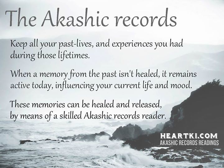 The Akashic Records store all your past-lives, and experiences you had in these lives.