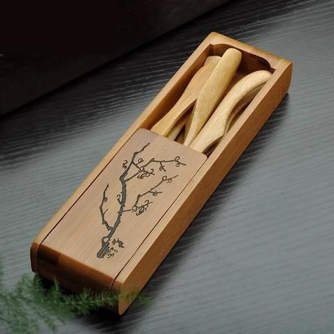 TangFeng Chinese Bamboo Tea Utensils Set