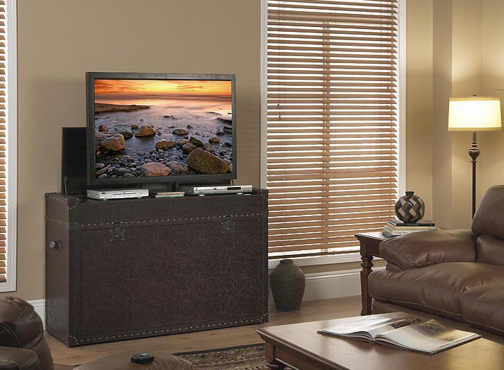ellis trunk end of bed or living area tv lift cabinet