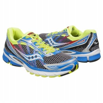 Saucony Ride 5 Shoes (Grey/Citron/Blue) - Men's Shoes - 12.0 M