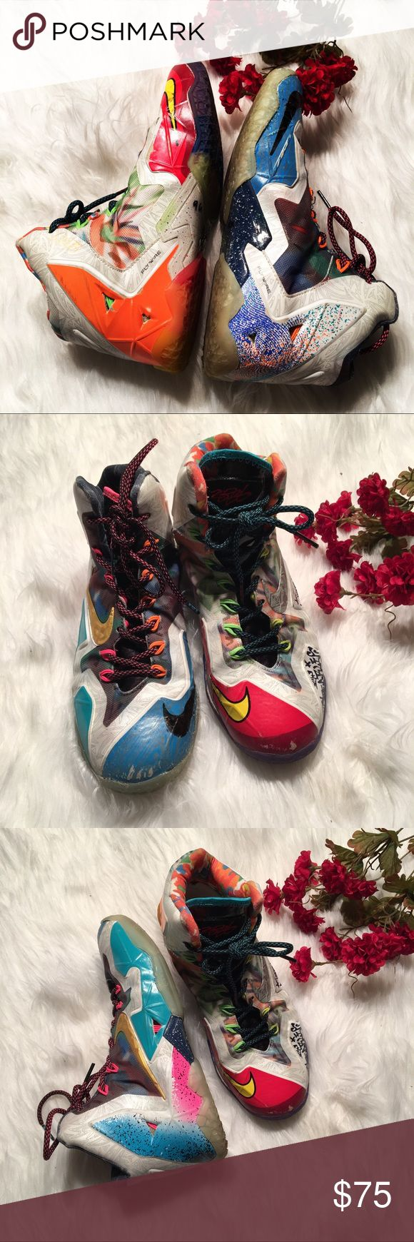 What the lebrons 11s Men's size 7 has a couple scuff marks in the front Nike Shoes Sneakers