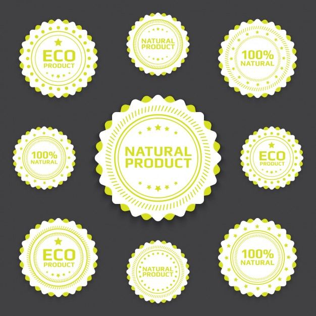 Eco badges collection I Free Vector