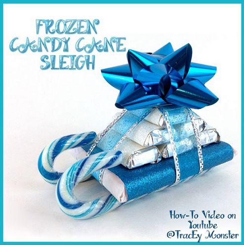 Frozen Candy Cane Sleigh Gift Idea - Crafty Morning