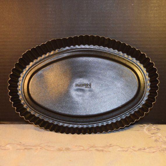 Pedrini Oval Tart Baking Dish Vintage by ShellysSelectSalvage