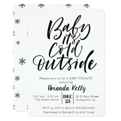 CHANGE COLOR - Modern Baby Shower Invitation - black gifts unique cool diy customize personalize