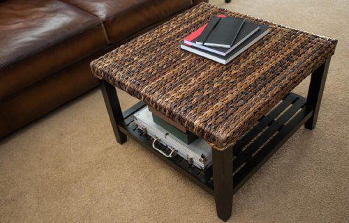 Birdrock Home Seagrass Coffee Table Click Image Twice