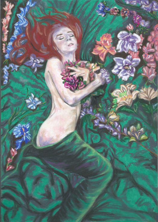 Buy Nymph meadow, Pastel drawing by Anna  Sasim on Artfinder. Discover other original nude art for sale, paintings, prints. Soft pastel art on Pastelmat paper,  woman drawing, woman painting.
