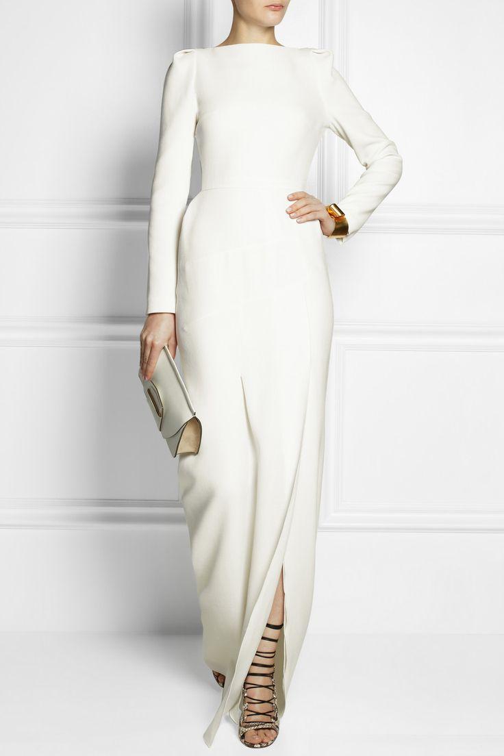Roland Mouret|Ella wool-crepe gown|NET-A-PORTER.COM