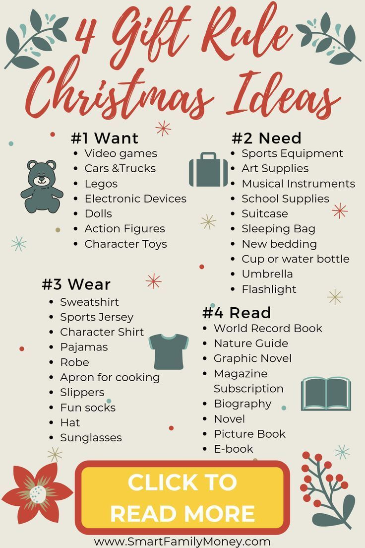 5 Gift Rule For Christmas Why You Need To Try It Christmas Presents For Kids Christmas Gift List Christmas Gifts For Kids