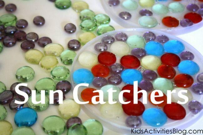 Glass Gems Suncatcher: Activities Blog, Gem Suncatcher, Sun Catcher, Kids Activities, Kids Crafts, Summer Sun, Gem Craft
