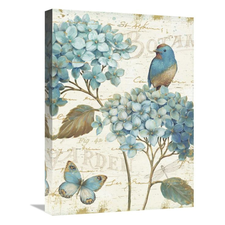 Global Gallery Blue Garden III Crop Wall Art
