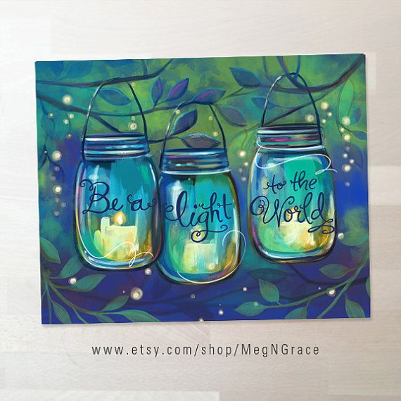 Be a light to the world Let your light shine by MegNGrace on Etsy