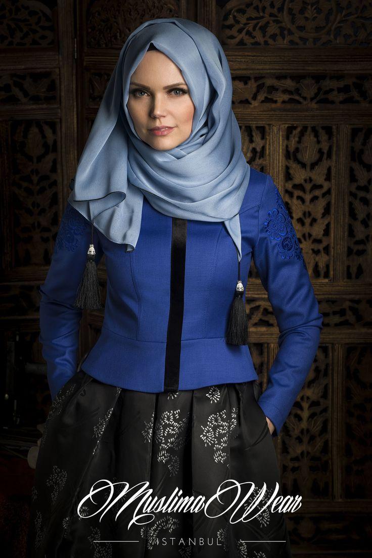 Muslima Wear Royal Blue Jacket | US Muslima Wear