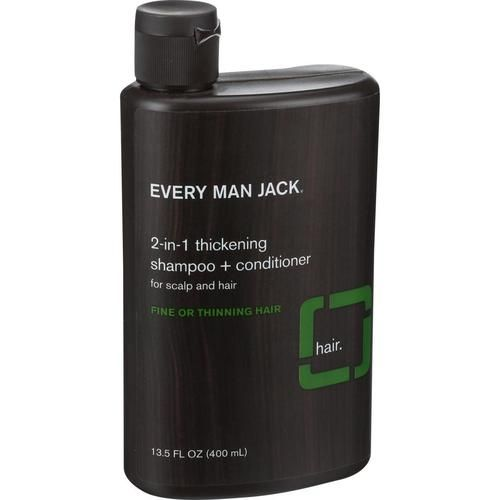 Every Man Jack 2 In 1 Shampoo Plus Conditioner - Thickening - Scalp And Hair - Fine Or Thinning Hair - 13.5 Oz - 0516476