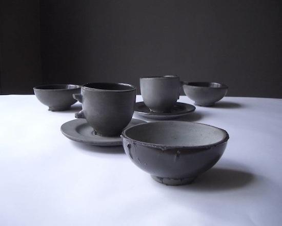 Dark looking ceramic