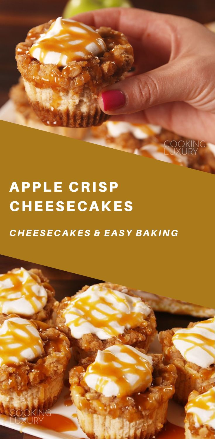 Apple Crisp Cheesecakes