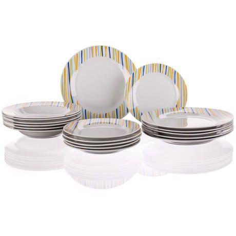 Porcelánová talířová sada Optica 18 dílů, BANQUET
