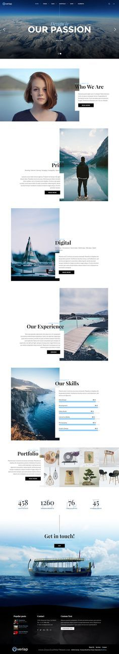 Overlap comes with unique layout designs for showing your creative portfolios, this WordPress theme includes smart theme options so you can easily customize every aspect of your site with just a few clicks. #creative #studio #website