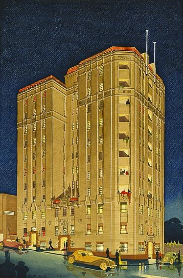 Lawson Flats (mid-1930s highrise apartment building), James Russell, 1936.