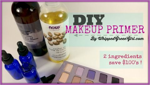 Makeup primer is a MUST! but it's expensive- here's a recipe to replace all those high-end products! A natural makeup primer recipe by WhippedGreenGirl.com