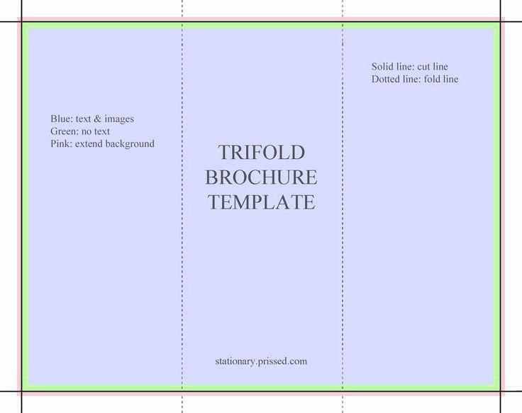 tri fold brochure free template new blank tri fold